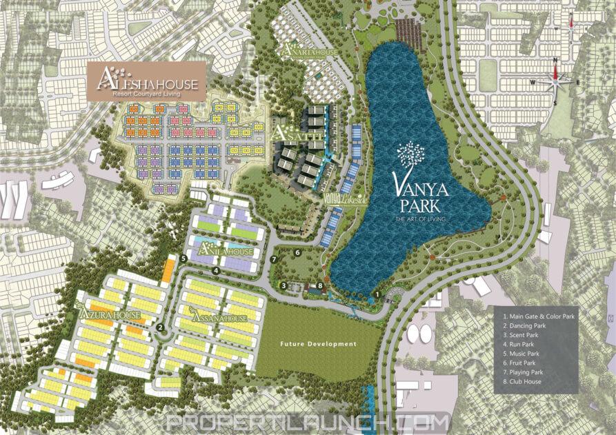 Lokasi Vanya Park BSD City