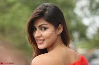 Rhea Chakraborty in Red Crop Top and Denim Shorts Spicy Pics ~  Exclusive 289.JPG
