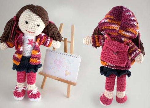 Amigurumi crochet doll pattern PDF for toy making Dorothy the ... | 352x489