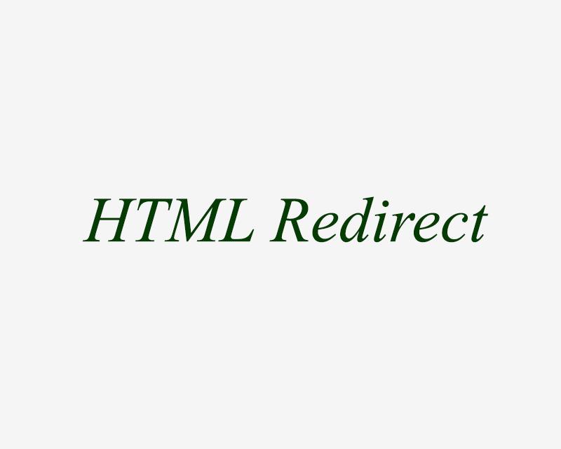 HTML Redirect