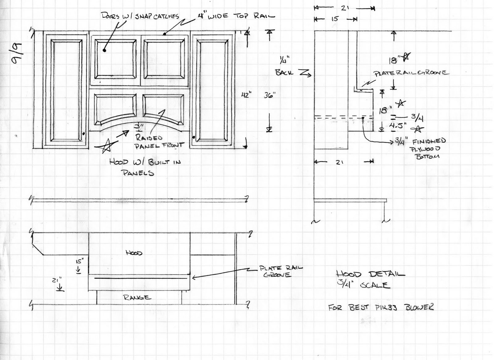 Best Kitchen Gallery: Doug Bolt Woodworking 2011 of Kitchen Hoods Design Drawings on rachelxblog.com