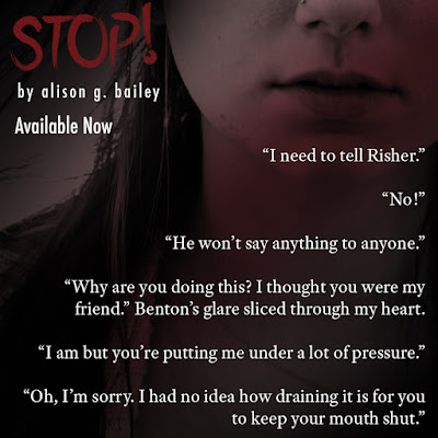 "Happy Release Day for ""Stop!"" by Alison G. Bailey!! Excerpt and Giveaway!!!"