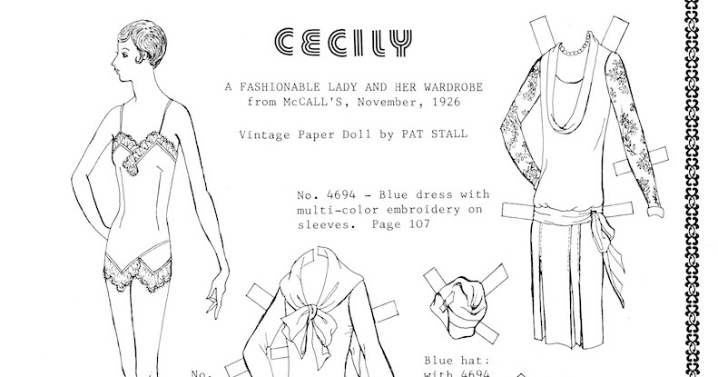 The Paper Collector: Cecily by Pat Stall, 1980