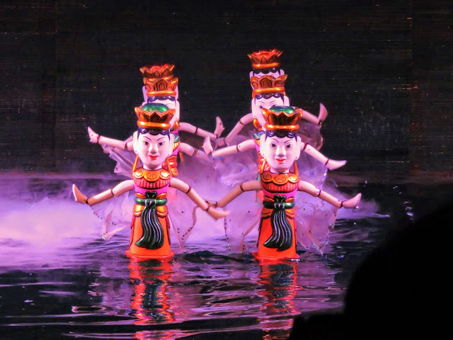 Water puppets at Thang Long Water Puppet Theatre in Hanoi Vietnam