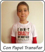 Camiseta con papel transfer