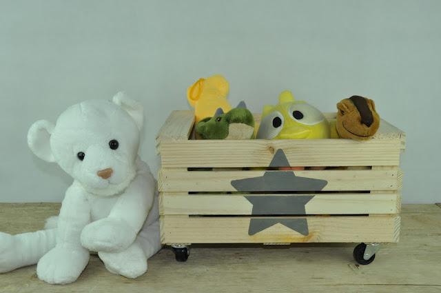 caja madera para juguetes