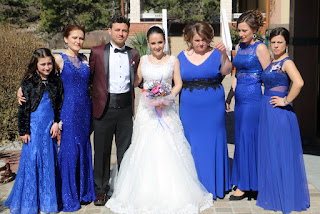 The beautiful wedding party
