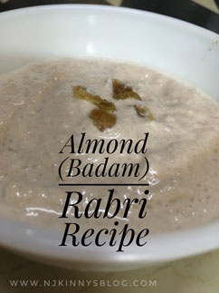 How to make healthy Almond Rabri (Badam Rabri) for babies recipe #FoodieFriday