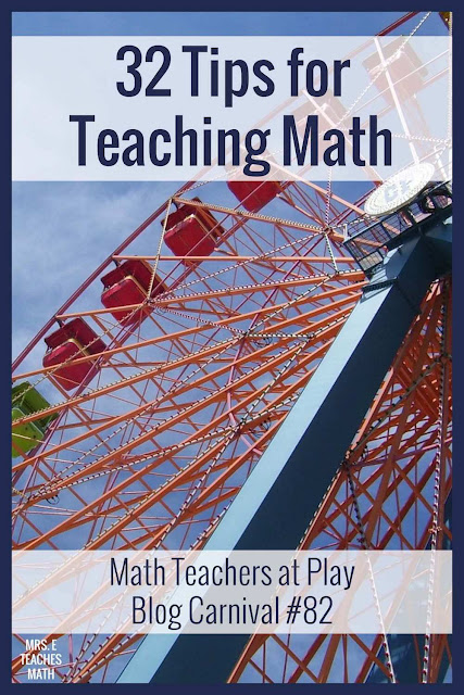 Are you a math teacher?  Check out these tips for teachers of all levels: elementary, middle school, and high school (secondary).  You'll find great ideas and strategies to help your students.