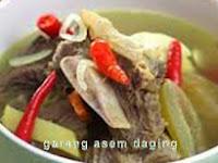 Resep Cara Membuat Garang Asem Daging enak dan lezat