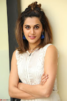 Taapsee Pannu in cream Sleeveless Kurti and Leggings at interview about Anando hma ~  Exclusive Celebrities Galleries 034.JPG