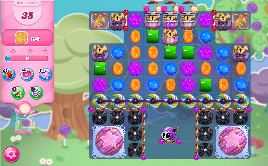 Candy Crush Saga level 5813