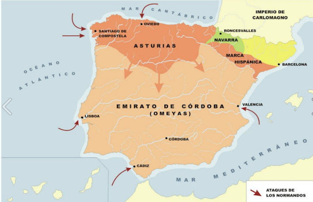 Resultado de imagen de emirato de córdoba siglo IX