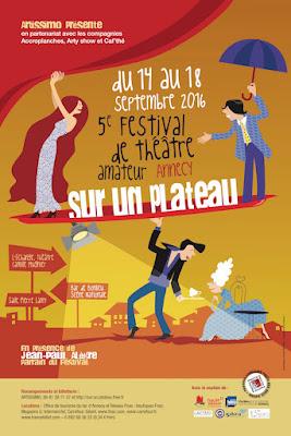 L'affiche du festival SUR UN PLATEAU 2016