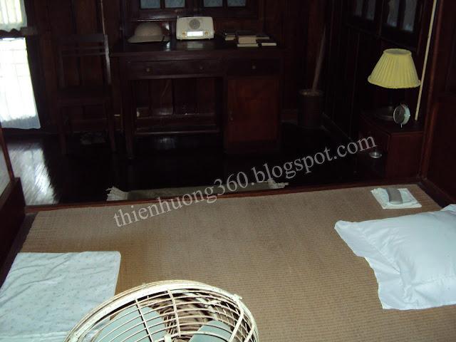 Nhà sàn Bác Hồ: Phòng ngủ mùa đông