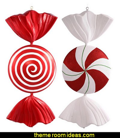 Red-White Peppermint Spiral Candy   candy Christmas theme decorating - candy themed christmas decorations - christmas candyland decorations -  candy ornaments -  candy shaped holiday ornaments - candy themed Christmas decor -   lollipop candy swirls Throw Pillows - Candy Christmas Tree  - candy stripe Chritmas decor - Candy Cupcake Ornaments