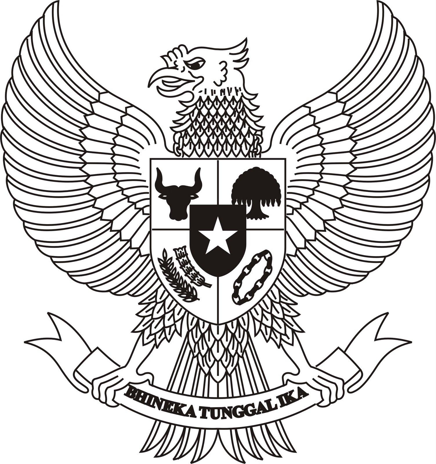Irfan Syamda S E Sy Lambang Garuda Hitam Putih
