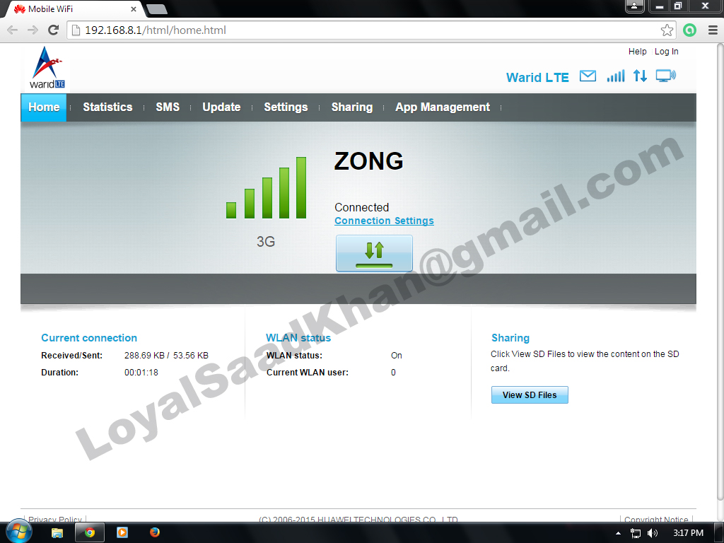 Zong And Warid 4G Huawei Wingle E8372h-153 Unlocking Process - My