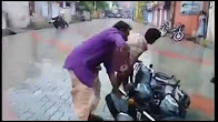 Continuous Bike Accidents In Slippery Road During Rain Tamil Nadu India