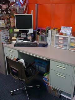 Ms Male Uses Plastic Drawers On Her Desk I Heart Those Btw In Place Of Stacking Trays If Your Is Against A Wall They Are Nice Option