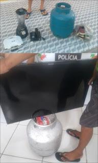 Polícia recupera produtos furtados; acusados são conduzidos à delegacia de Picuí
