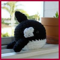 Ballena negra amigurumi