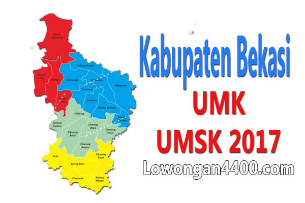UMK dan UMSK 2017 Kabupaten Bekasi Terbaru