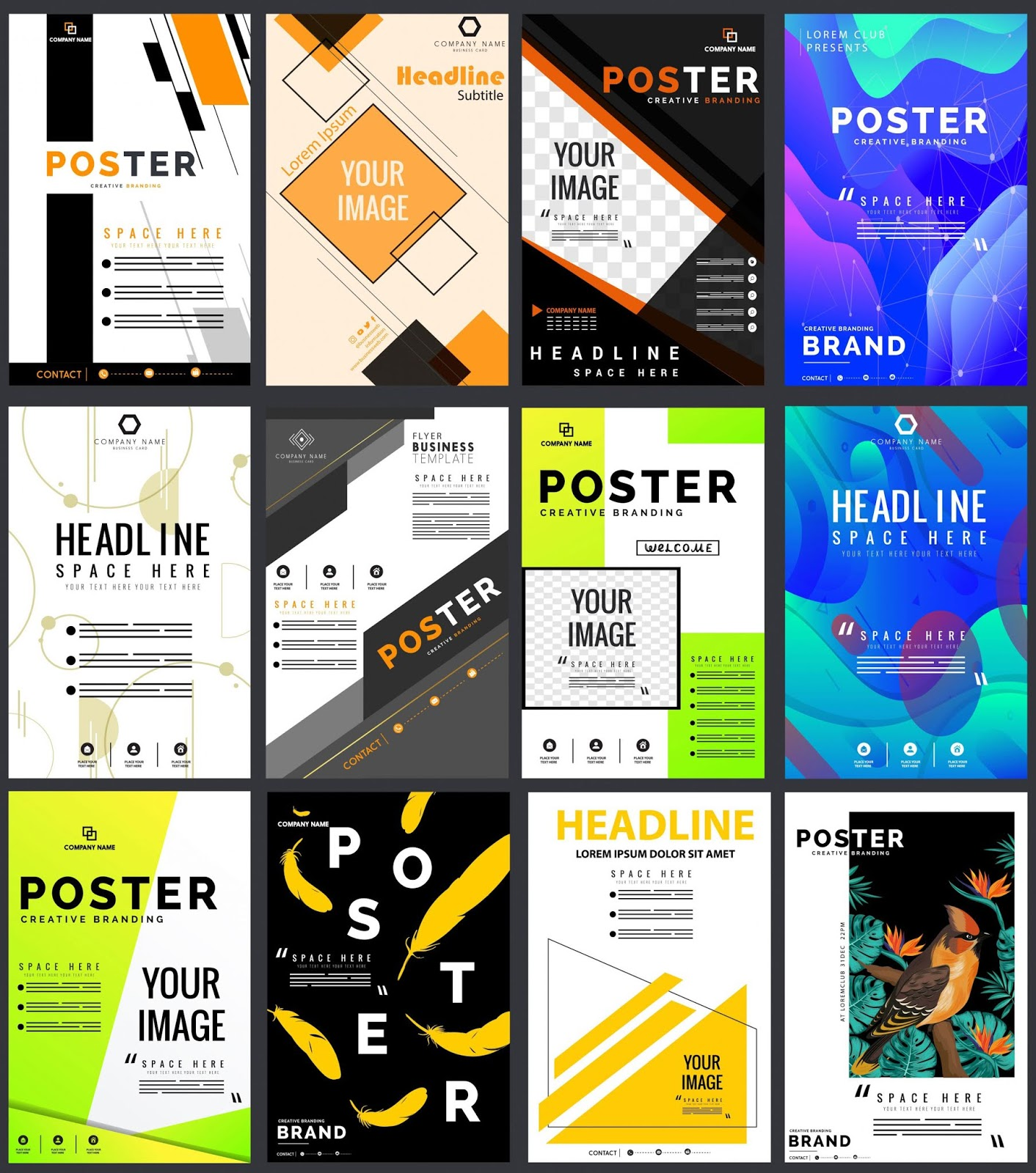 poster templates colorful modern decor
