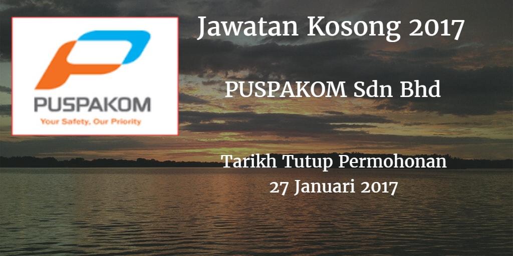 Jawatan Kosong PUSPAKOM Sdn Bhd 27 Januari 2017