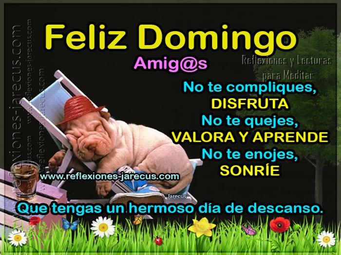 Feliz Domingo, Tarjetas Feliz Domingo, Días de la semana,
