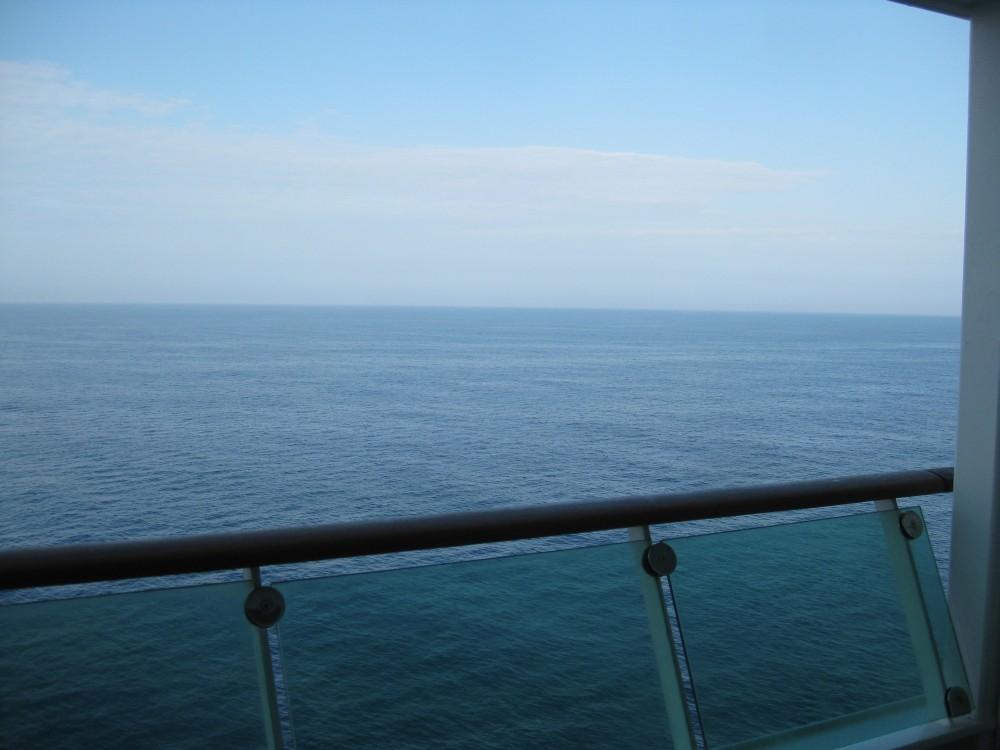 Balkonkabine auf der Voyager of the Seas - Blick aufs Meer