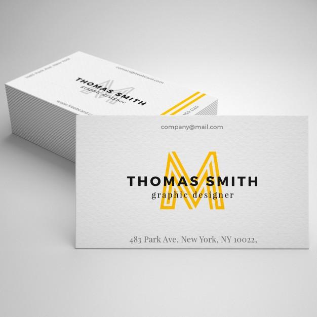 Realistic business card mockup Free Psd