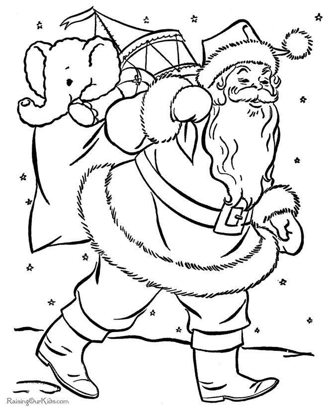 Merry Christmas Coloring Sheets 2017