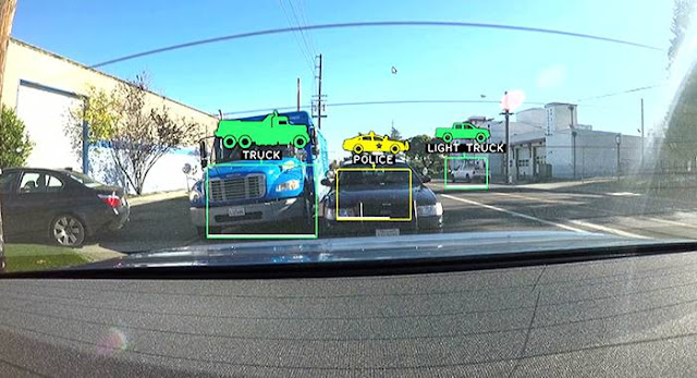 Image Attribute: Nvidia's self-driving car software ... picking out what's on the road / Source: NVIDIA