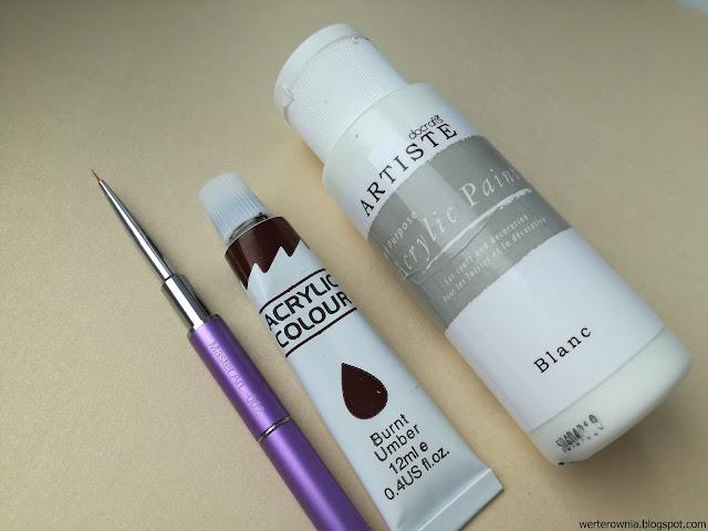 malowanie paznokci farbkami akrylowymi