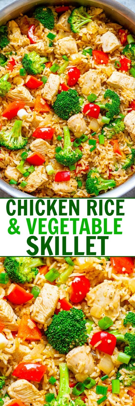Delicious Chicken, Rice, and Vegetable Skillet