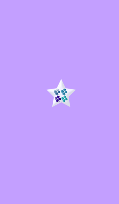 Lucky Purple Clover Star