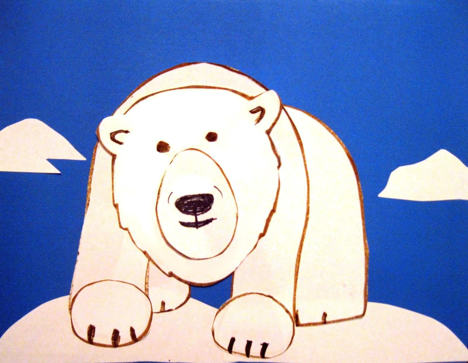 polar bear art class ideas
