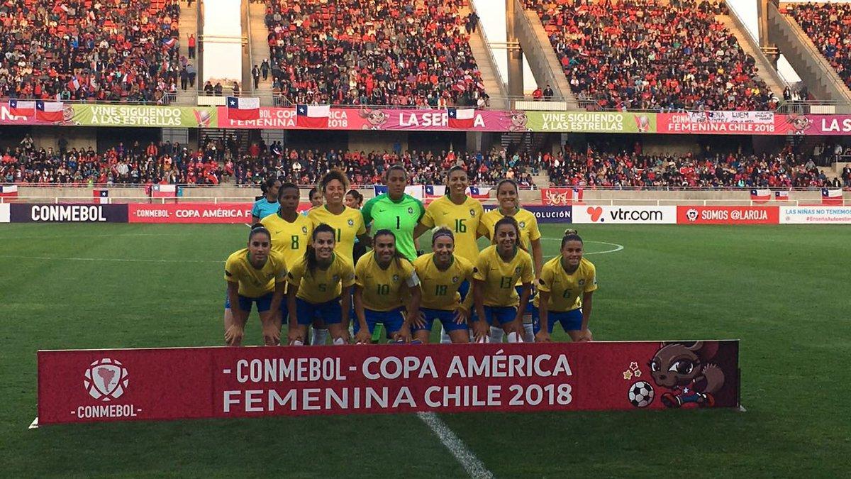 Formación de selección de Brasil ante Chile, Copa América Femenina 2018, 16 de abril