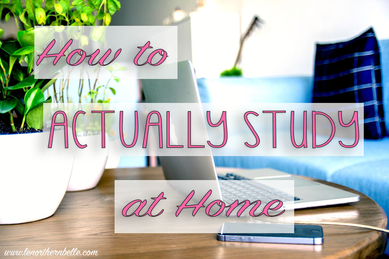 Le Northern Belle | How to Actually Study at Home
