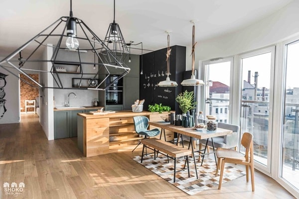 An Apartment With Nordic Style and Industrial Touches 8