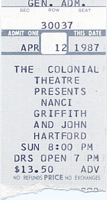 John Hartford and Nancy Griffith, April 12, 1987