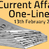 Current Affairs One-Liner: 13th February 2020