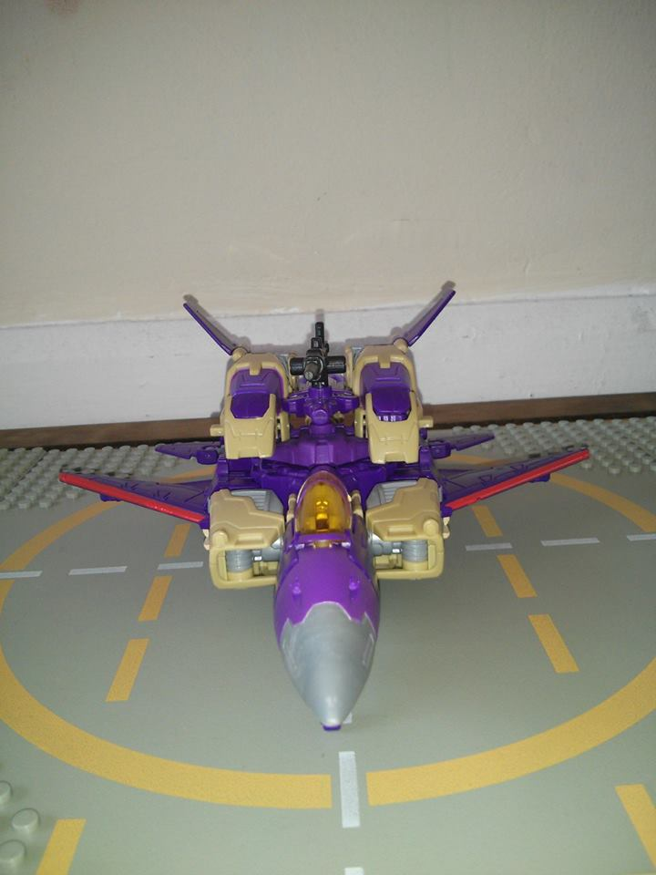a front shot of generations blitzwing