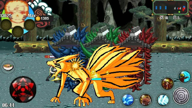 Download Naruto Senki Full Characters Unlocked MOD Unlimited Money Shinobi Flame 2 Apk Android Terbaru