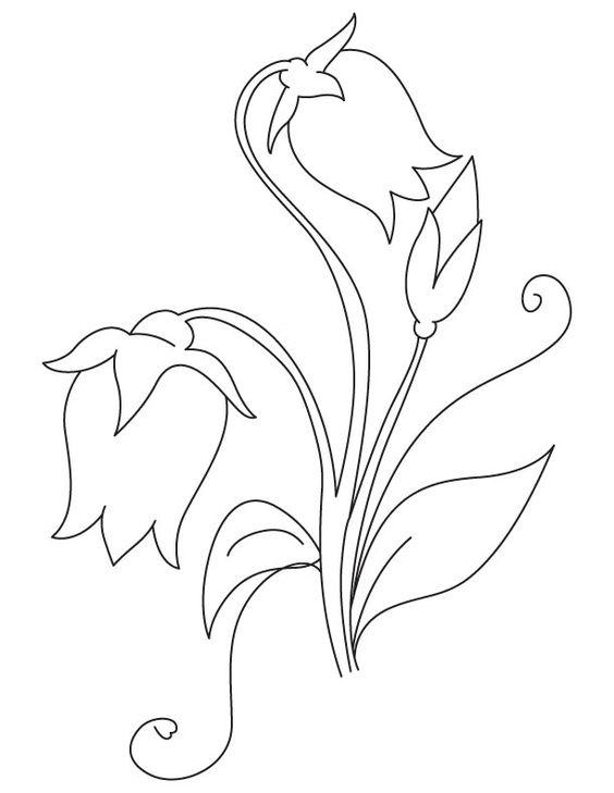 Tranh tô màu bông hoa đơn giản cho bé