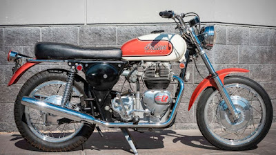 Motorcycle with Royal Enfield motor.