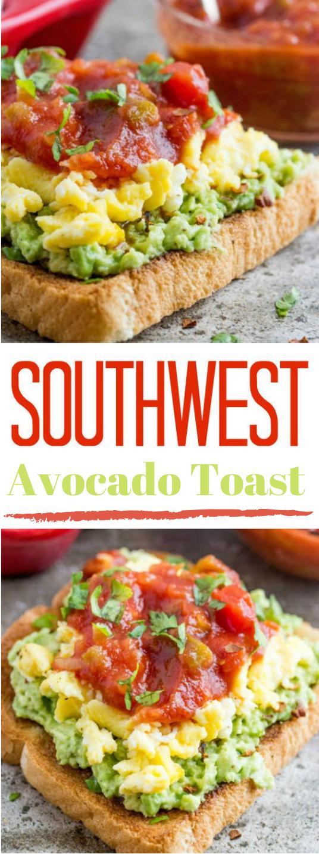 SOUTHWEST AVOCADO TOAST #avocado #diet