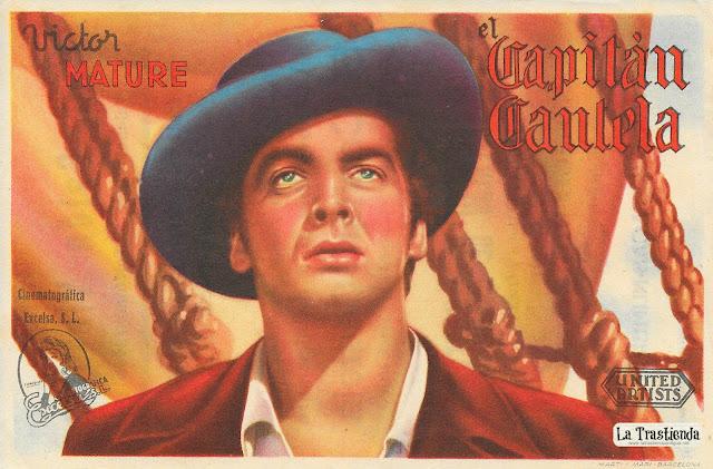 El Capitán Cautela - Programa de Cine - Victor Mature - Louise Platt