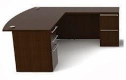 Cherryman Bowfront Verde Desk